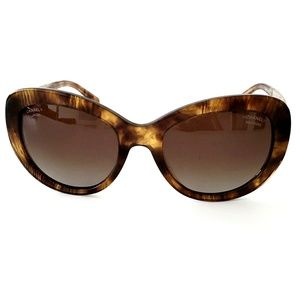 CHANEL Accessories - Chanel 5346 Cat Eye Brown Bijou Butterfly Sunglass